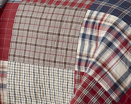 Nautica Ansell Cotton Pieced Quilt, King, Red/Blue by Nautica (Image #3)