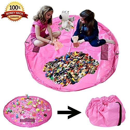 Jenbou Storage Play Mat Lego Bag Portable Drawstring