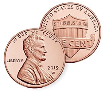 2019 W Lincoln Shield Cent in OGP - West Point Mint Cent Proof US Mint