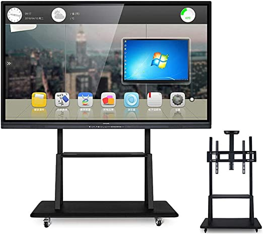 XUE Rolling TV Stand Mobile TV Cart, Universal Bracket Wire ...