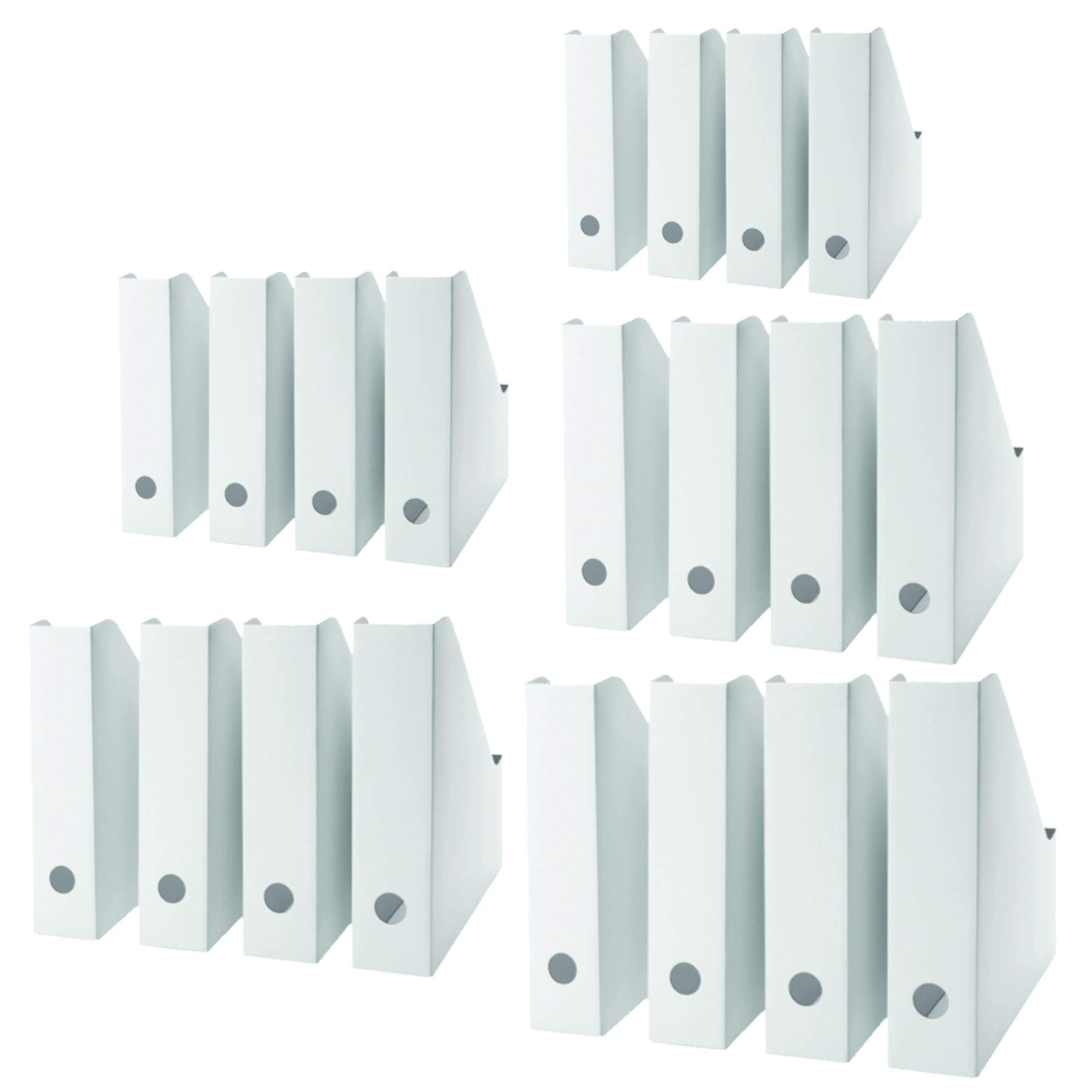 20 Pack Magazine, Document Organizer Holder Laminated in White for Office Home use (20) IKEA comparable.