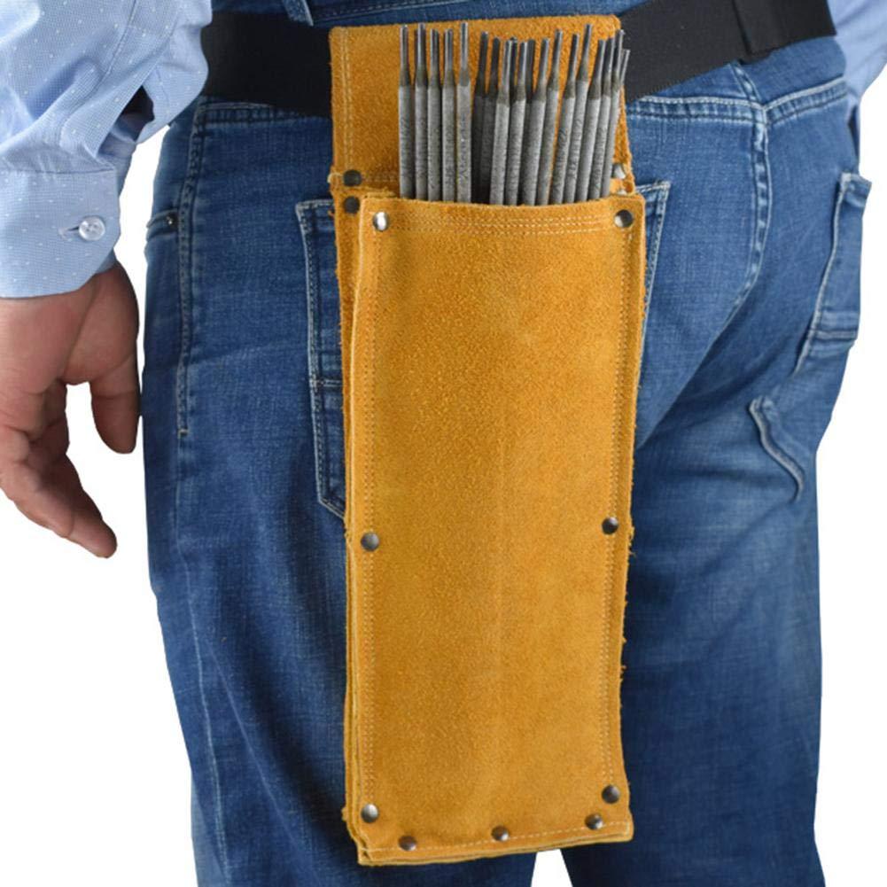 Bo/îte de Rangement pour /électrodes de soudage Sac de Taille pour Present Sac pour Outils de soudage Sac de Rangement pour Tige de soudage auspilybiber Support de Baguette de soudage en Cuir