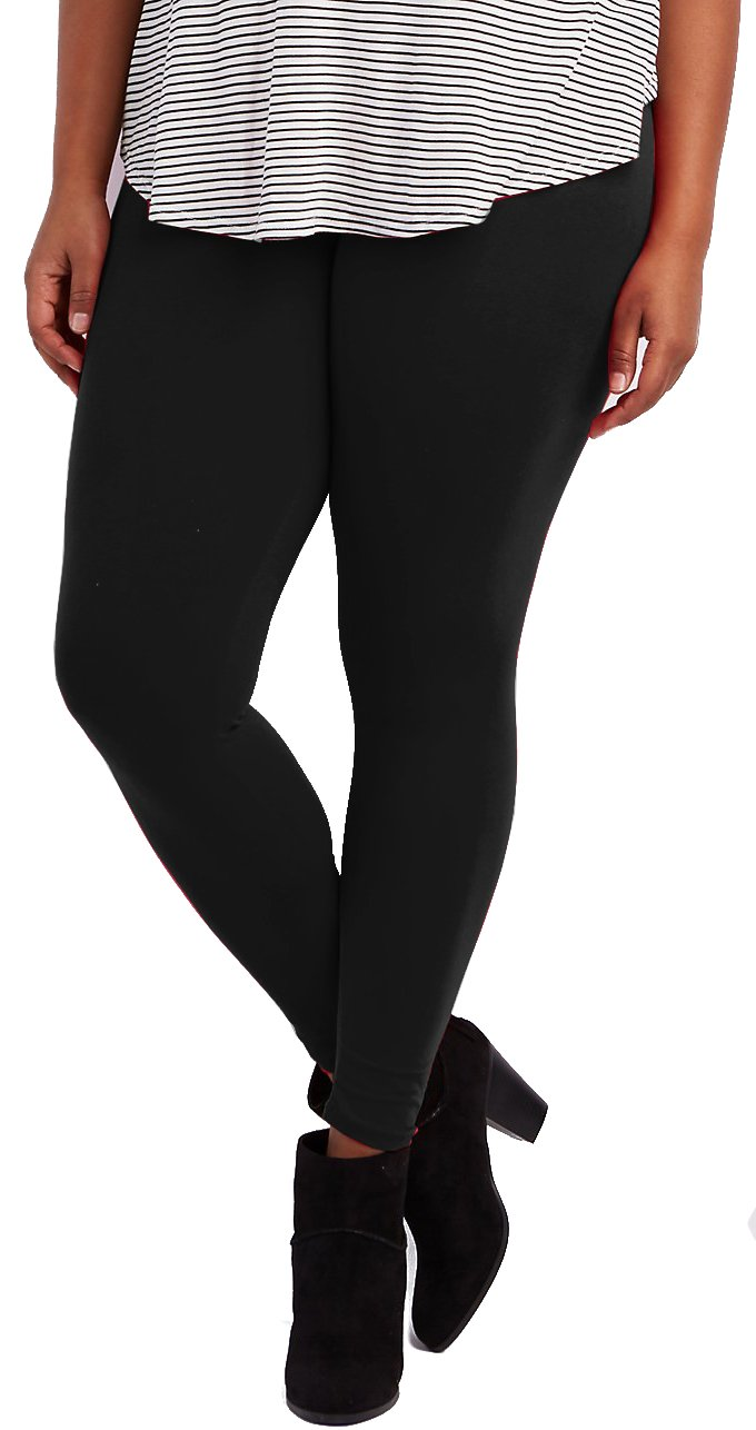 Lush Moda Extra Soft Leggings-Variety of Colors-Plus Size Yoga Waist-Black Yoga Waist,One Size fits Most (XL - 3XL) by LMB (Image #1)