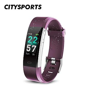 CITYSPORTS Reloj Inteligente, Smartwatch Impermeable IP68,Pulsera de Actividad Inteligente Pantalla a Color,Rastreador de Actividad GPS/Monitor de ...
