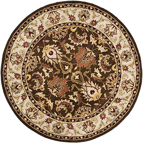 Brown Oriental Rug Round (Safavieh Heritage Collection HG818A Handcrafted Traditional Oriental Brown and Beige Wool Round Area Rug (6' Diameter))
