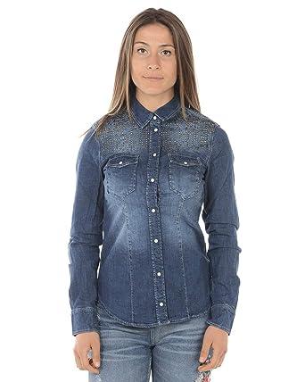 stili freschi acquista l'originale comprare a buon mercato Liu Jo - Camicia Donna U18037D4289 U18037D4289 Denim: Amazon ...