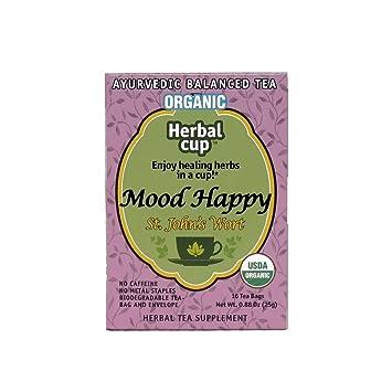 Amazon.com : Herbal Cup Mood Happy St John\'s Wort Organic 16 Tea ...