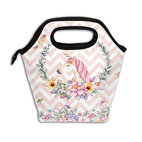 Amazon.com: Bolsas de almuerzo con diseño de unicornio para ...