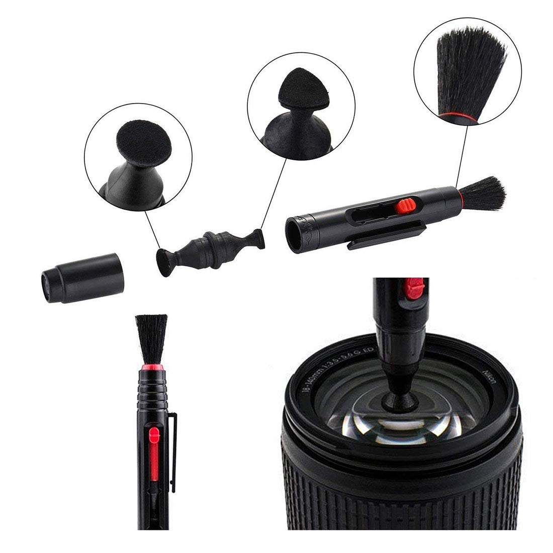 Enerhu Camera Cleaning Kit for Cameras Sensor Cleaning//Lens Cleaning with Carry Bag