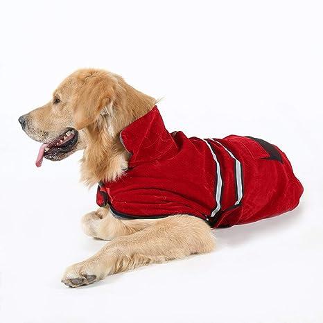 Lorenlli Ropa para Perros Ropa de Abrigo Abrigos de Invierno con cinturón Reflectante para Perros Golden
