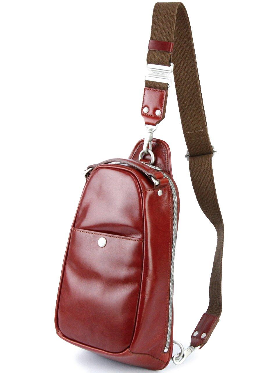 [エルゴポック] HERGOPOCH ワンショルダーバッグ GL-OS グレイズドレザー Glaze Series グレイズシリーズ B00D3G071U レッド レッド