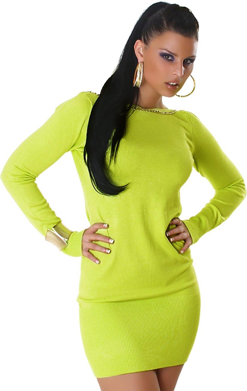 Jersey de jersey de mangas largas de Jela London para mujer Jersey de manga larga Jersey de escote en canalé Vestido de jersey de manga larga 36, 38, 40, ...