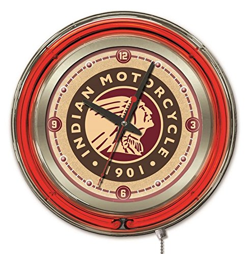 Holland Bar Stool Co. Indian Motorcycle Neon Clock, 15
