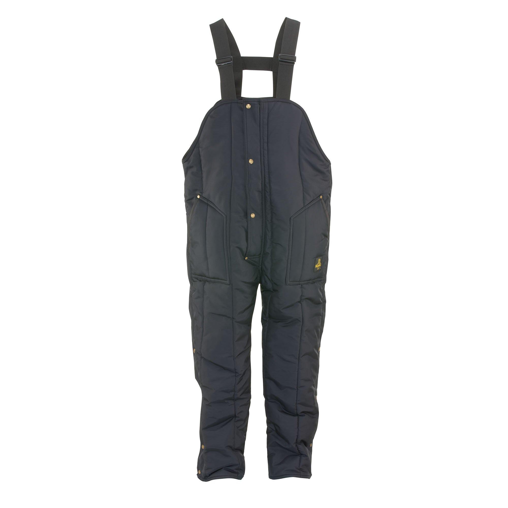 RefrigiWear Men's Iron-Tuff Insulated High Bib Overalls (Navy Blue, 2XL Short)