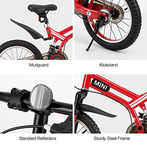 RASTAR Full Suspension Kid's Bike, Mini Cooper Kid's Bicycle 16 inch - Red, Top for Kids 2018 by RASTAR (Image #7)