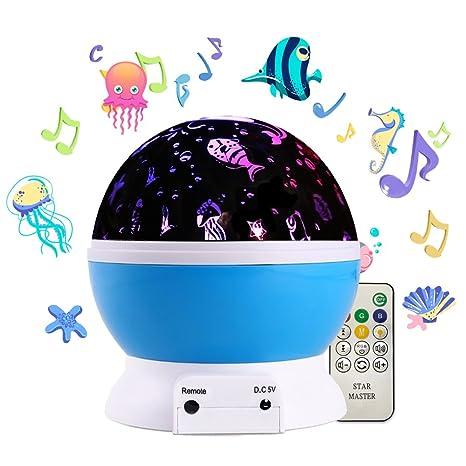Luz de noche para niños, proyector de música Undersea World, luz ...