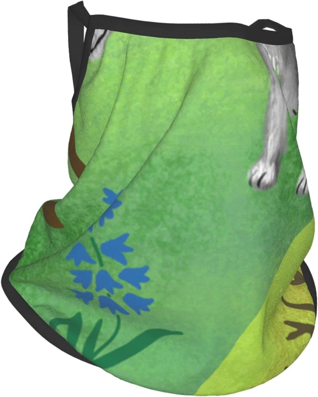 Gbyuhjbujhhjnuj Lindo perro plegable protector de boca cubre la cara del cuello bufanda reutilizable lavable bandanas para hombres mujeres adultos