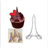 Yinew Ausstechformen Edelstahl Keksform Eiffelturm Fondantform Ausstecher für Kekse