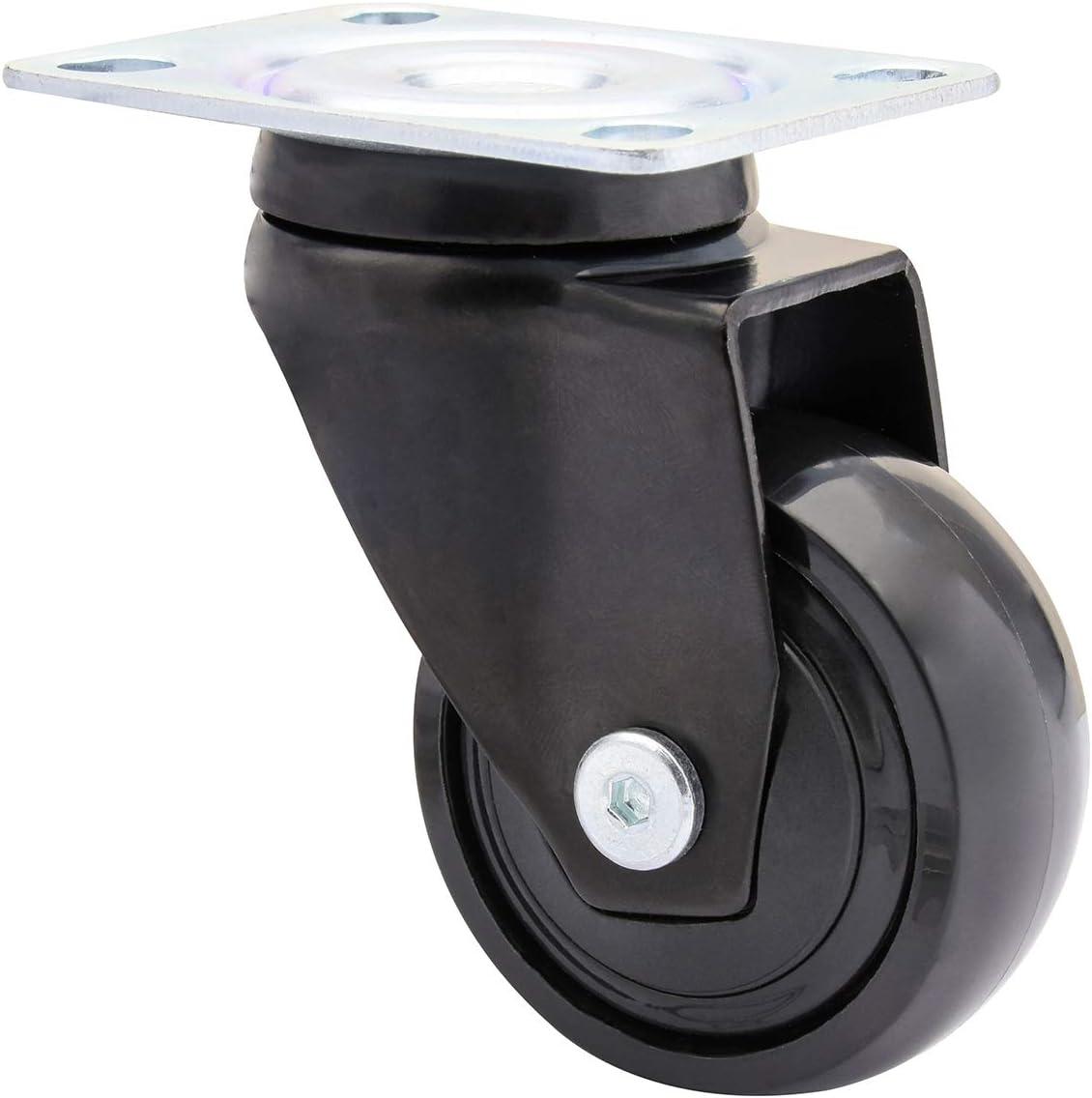 WAGNER Design 01225201 Roulette /à billes 3C Noir Diam/ètre 50 mm Charge maximale 50 kg