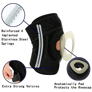 ae47008adb BFIT USA Neoprene Knee Brace with Patella and Spring Support: Amazon.in:  Sports, Fitness & Outdoors