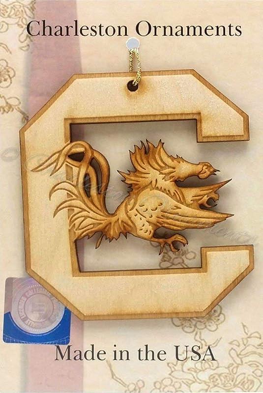 Edisto Memorial Gardens Orangeburg South Carolina Brass Christmas Ornament