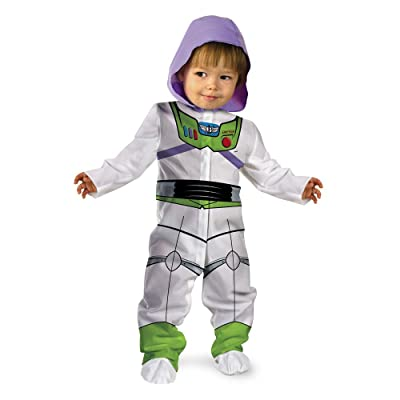Disguise Baby Boy's Disney Pixar Toy Story and Beyond Buzz Lightyear Classic Costume, White, 0-6 Months: Clothing