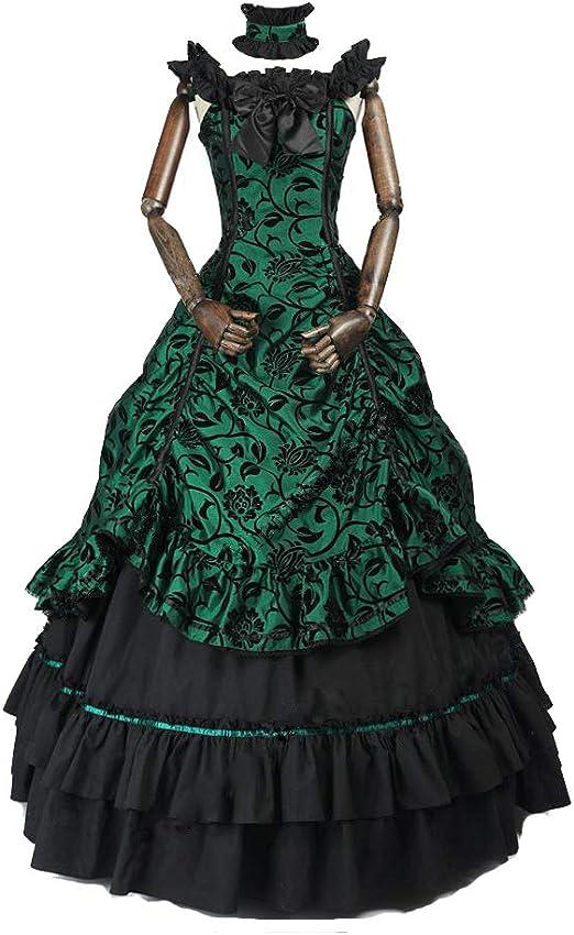 Renaissance Victorian Period Prom Dress Masquerade Ball Gown Steampunk 119