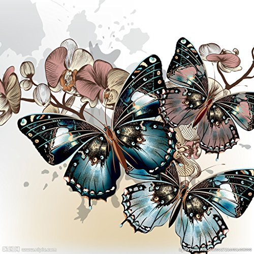 Splicing Design - RunFar 5 Sets DIY 5D Diamond Painting Cross Stitch Crafts Kit Paint-By-Number Kits Butterfly Design Splicing Paintings Home Decor Gift for your Children Friends
