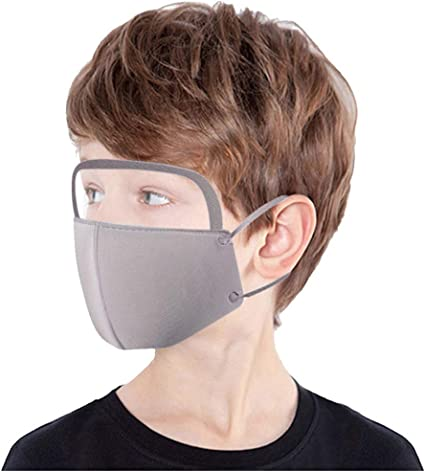 Anti-Haze Dust 1Pc Face Bandanas Reusable and Breathable Cloth Covering for Face for Kids by Wugonta