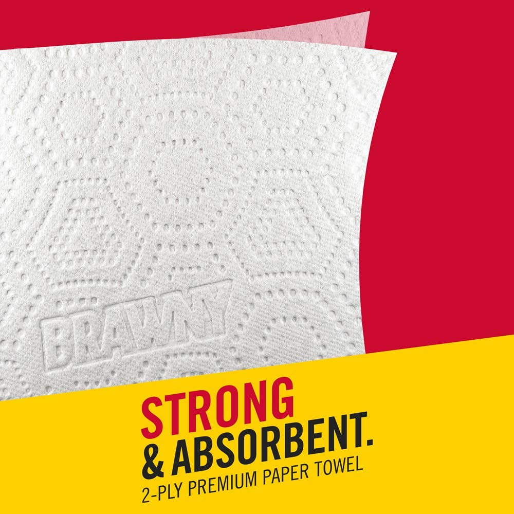 Brawny Paper Towels, 16 XL Rolls, Pick-A-Size, White, 16 = 32 Regular Rolls by Brawny (Image #7)