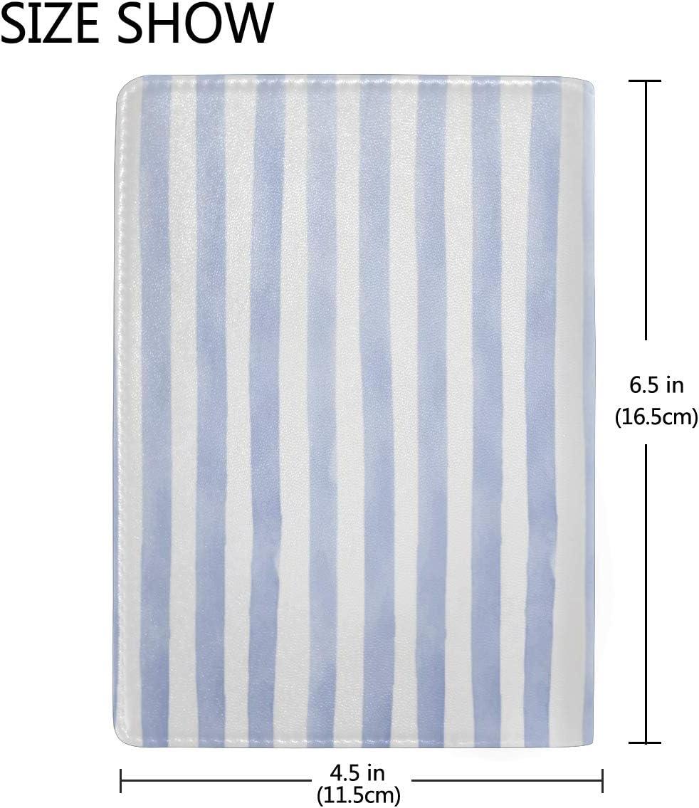 Men Passport Case Stripes Geometrical Simple Diagonal Stylish Pu Leather Travel Accessories Passport Cases For Men For Women Men