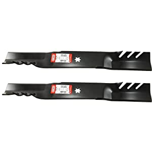 "Set of 2, Longer Life Gator Fusion G5 3-In-1 Mulching Blades to Replace MTD Blades 742-0616, 942-0616, 742-04126 942-04312 Used on some 42"" Decks, MTD, Cub Cadet, White, Wards, Yard Man, Troy Bilt."