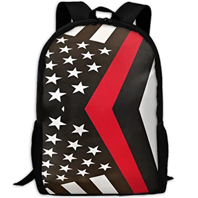 Firefighter Flags Luxury Print Men And Women's Travel Knapsack