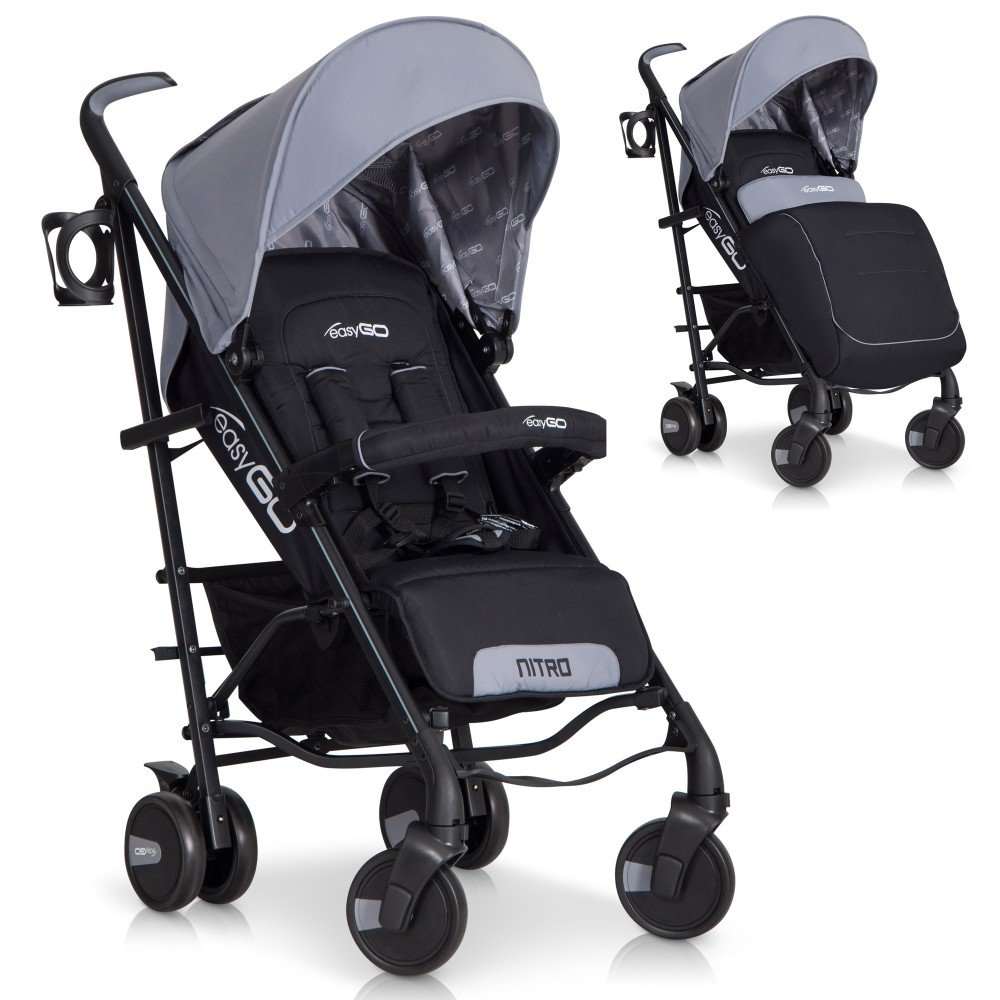Poussette Canne Bebe pliable NITRO Premium - Aluminium Version, Couleur: Green LCP Kids