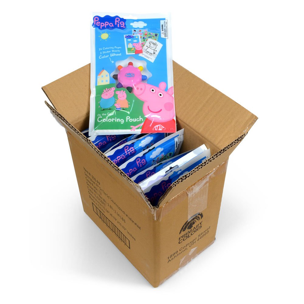 Peppa Pig On The Go Coloring Activity Pouch with Color Wheel and Stickers
