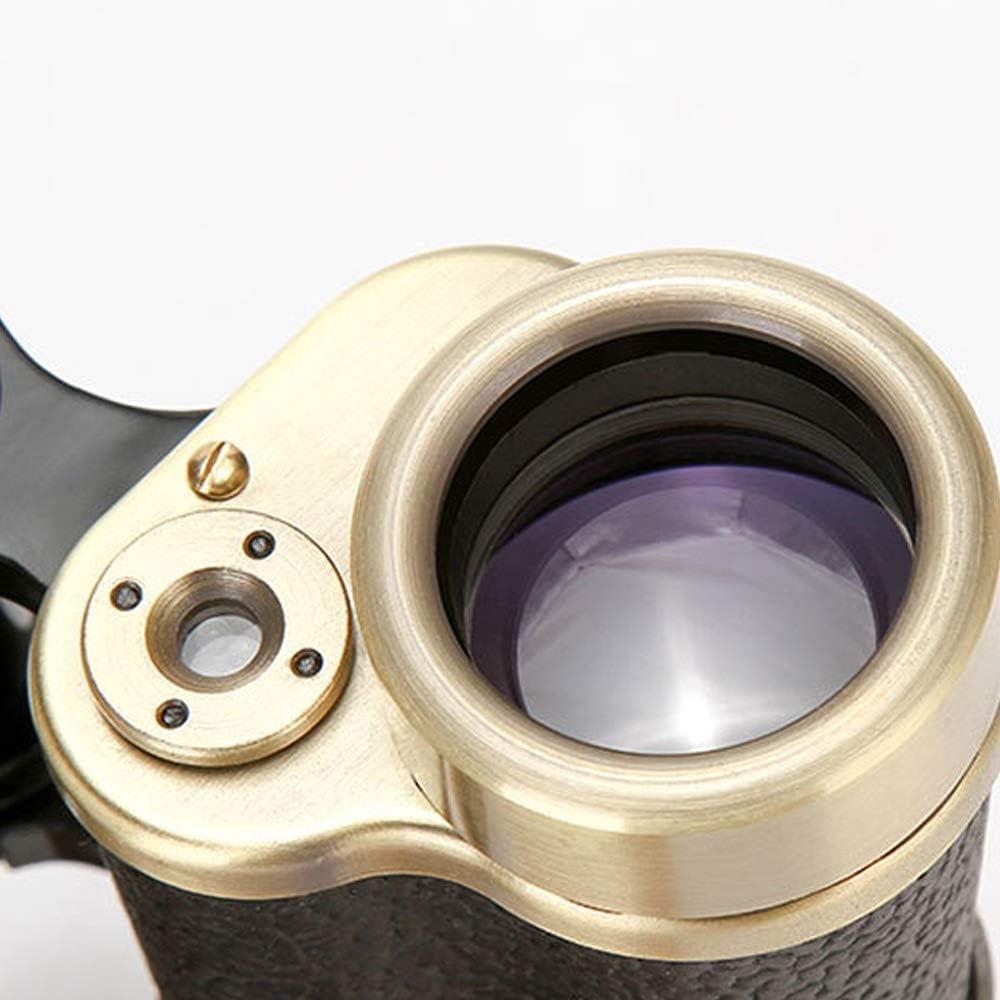 KONGZIR Monocular Binoculars Telescope Pure Copper Binoculars Low Light Range Full Metal 8X30 High Power HD Travel Vacation Adult Telescope Objective 30mm Waterproof