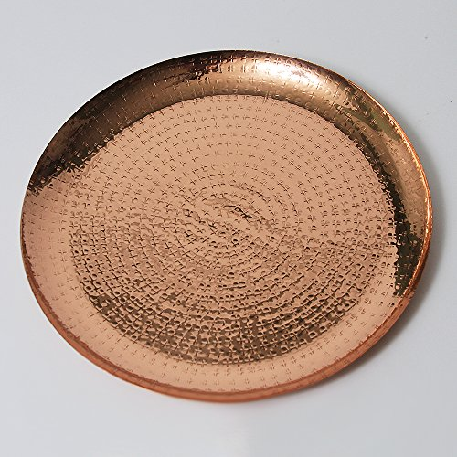 Copper Metallic 13 inch Decorative Charger Plate by (Round Copper Tray)