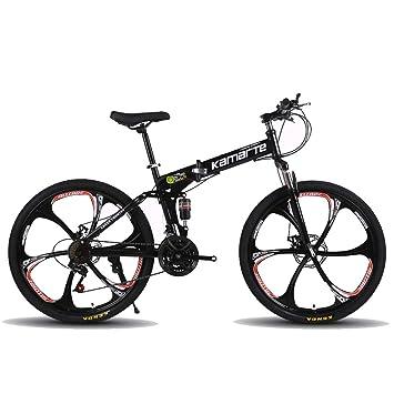 Bicicleta de montaña plegable, 26 pulgadas, 27 velocidades ...