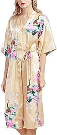 Mujer Pijamas Mujer Verano Cortos Satín Camisones Elegantes ...