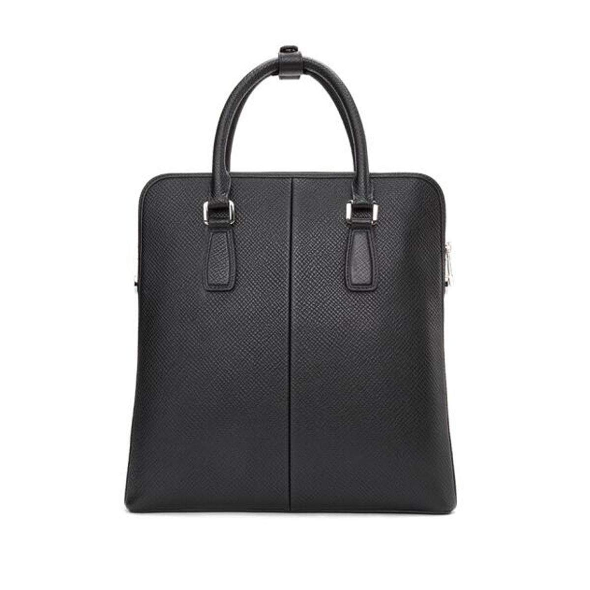 8haowenju Briefcase New Leather Business Tote Black Size; 29631cm Suitable for Travel Color : Black Business Travel Mens Leather Large Capacity Computer Bag