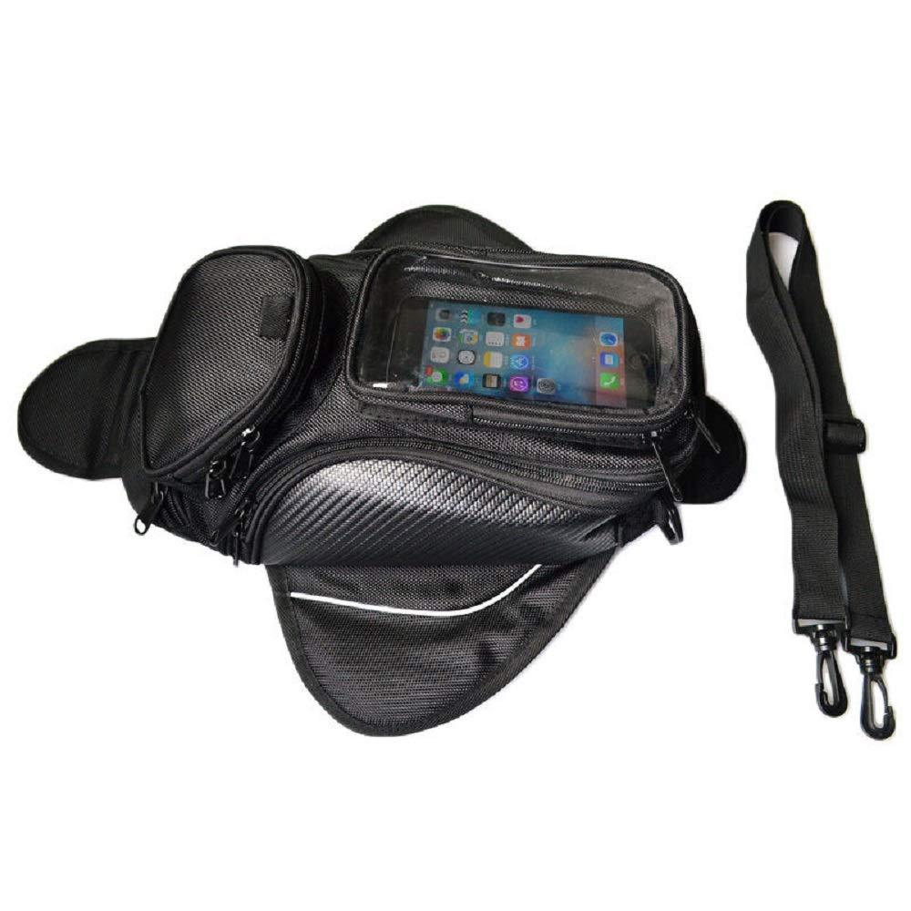 Motorcycle Gas Oil Fuel Tank Saddle Bag Magnetic Tank Bag Waterproof Shoulder Bag for Honda Suzuki Kawasaki