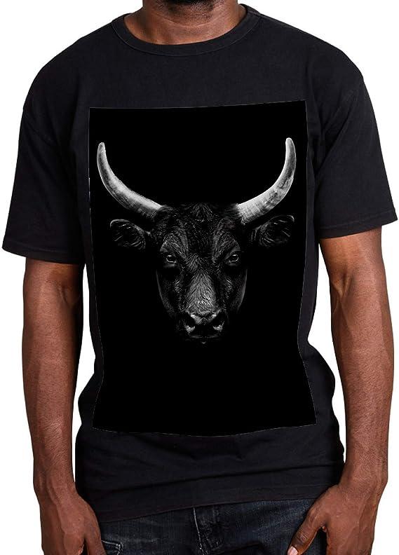 LORVIES - Retrato de cara de toro negro para hombre y mujer ...