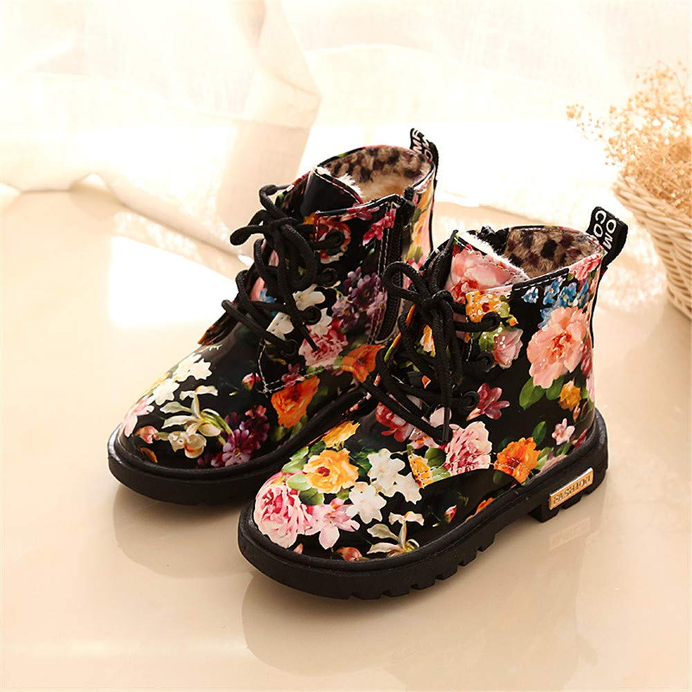 Gusha Printed Snow Boots Boys and Girls Boots Winter Martin Boots