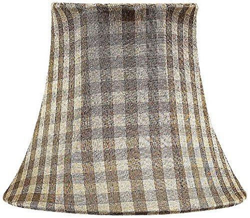 Jubilee Collection 2726 Taupe Checked Chandelier Shade