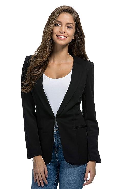 Amazon.com: JHVYF - Chaqueta de trabajo para mujer, informal ...