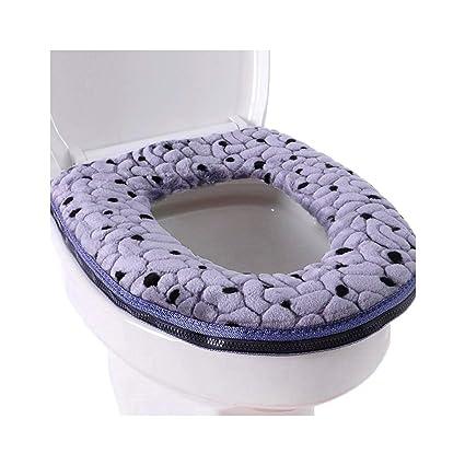 Astonishing Warm Velcro Tape Thickening Velvet Toilet Seat Cover Bralicious Painted Fabric Chair Ideas Braliciousco