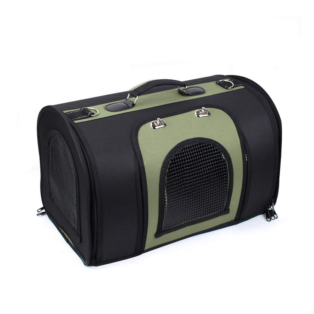 Black green Medium Black green Medium Go Pet Club Soft Crate Bag,Designed for Travel,Outdoor Use,Cat Puppy Small Pets,3 colors (color   Black Green, Size   M)