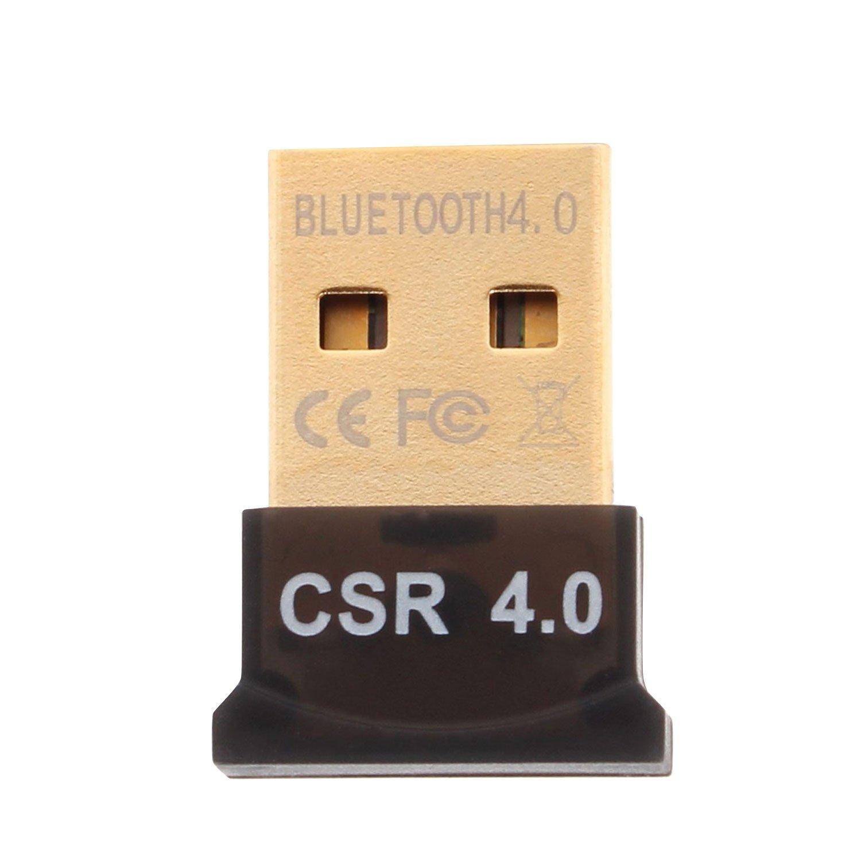 Aukru® USB Nano Bluetooth Adapter V4.0 Bluetooth 4.0 USB Adapter inkl. EDR mit LED | Plug & Play | für PC Windows XP/Vista / 7/8 /8.1 Bluetooth Stereo | kompatibel Bluetooth 2.1 product image