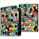 """Fintie Folio Case for Kindle 8th Generation - The Book Style Premium Vegan Leather Cover with Auto Sleep/Wake for Amazon All-New Kindle E-reader 6"""" Glare Free Touchscreen Display (2016 Model), Mosaic"""