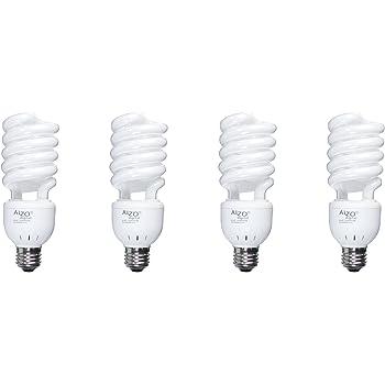 ALZO 27W Full Spectrum CFL Light Bulb 5500K, 1300 Lumens, 120V, Pack ...